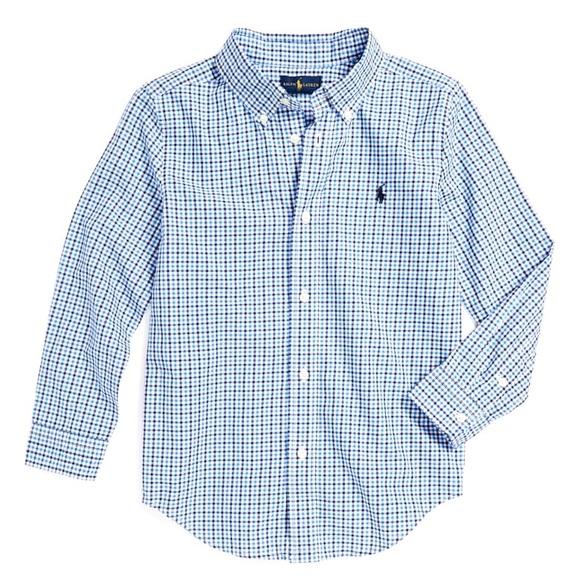 Ralph Lauren 'Blake' Plaid Cotton Poplin Shirt